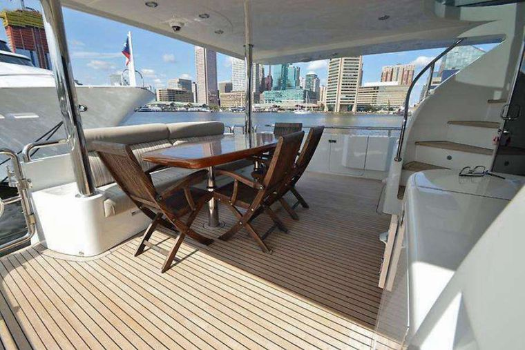 ELLA CLARE Yacht Charter - Aft Deck Seating Area