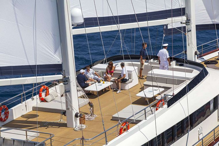 NAVILUX Yacht Charter - At anchor in Croatia