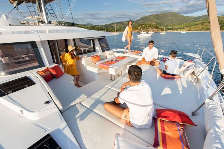 Sunshine Baby 2 Yacht Charter - Foredeck lounge area