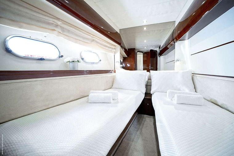 DISTAR PRINCESS Yacht Charter - Twin Cabin 2 beds converted into full bed upon request