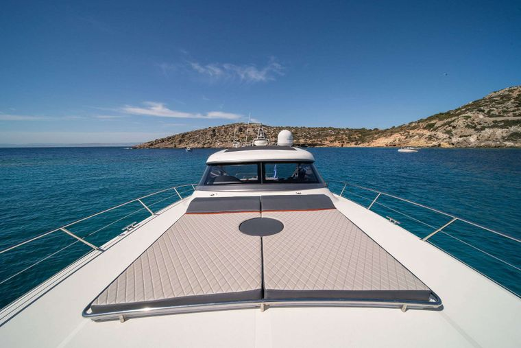 ORION Yacht Charter - Bow Sun Pads
