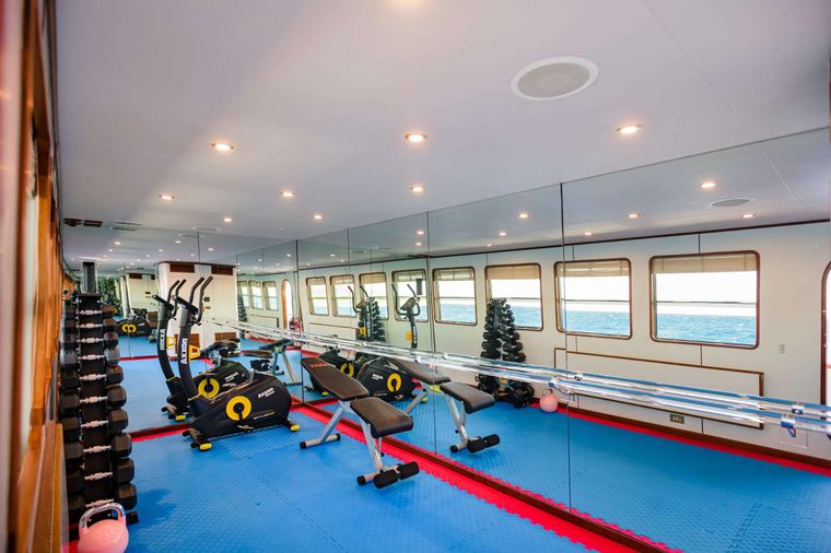 WIND OF FORTUNE Yacht Charter - Gym