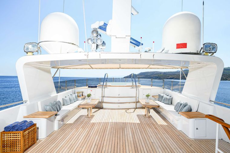 WIND OF FORTUNE Yacht Charter - Upper Deck