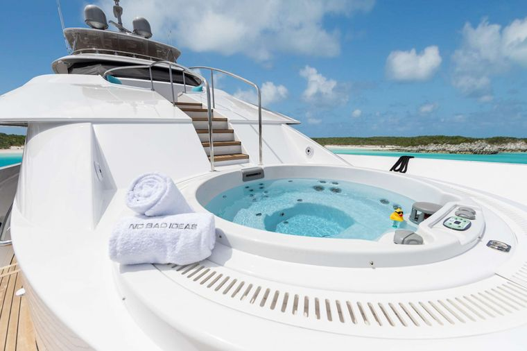 NO BAD IDEAS Yacht Charter - Bow Jacuzzi