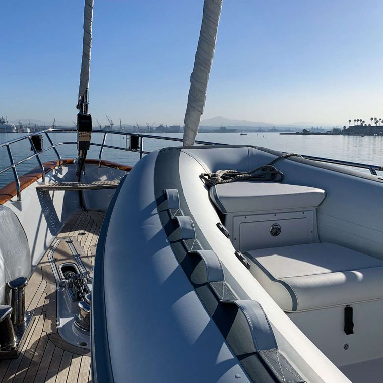 S/Y Kaori Yacht Charter - 19 foot tender will allow for beach excursions and exploring the coast