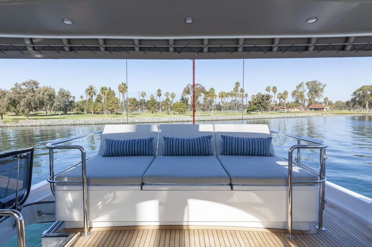 S/Y Kaori Yacht Charter - Reclining bench seat can fit up to 4 for an enjoyable view during sailing
