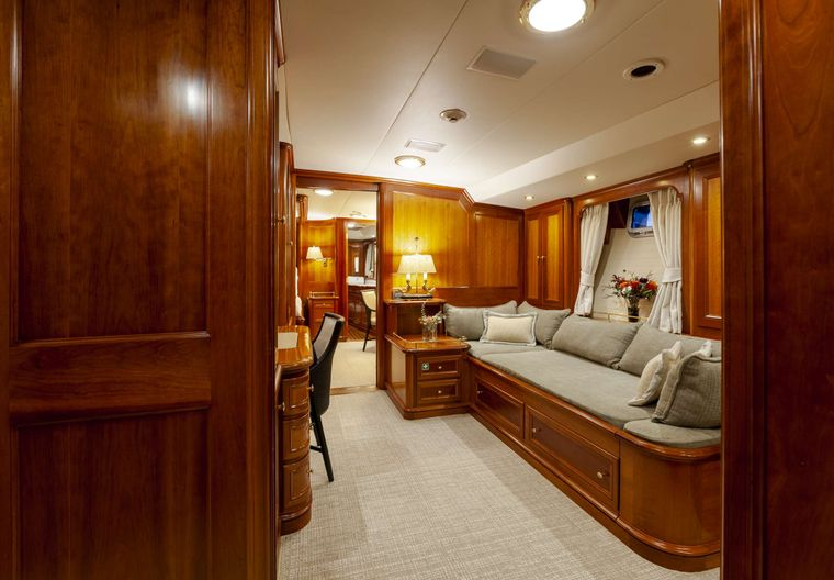 S/Y Kaori Yacht Charter - Master has attached study with separate bathroom and shower that can be closed off to be the 4th queen stateroom with separate enterance