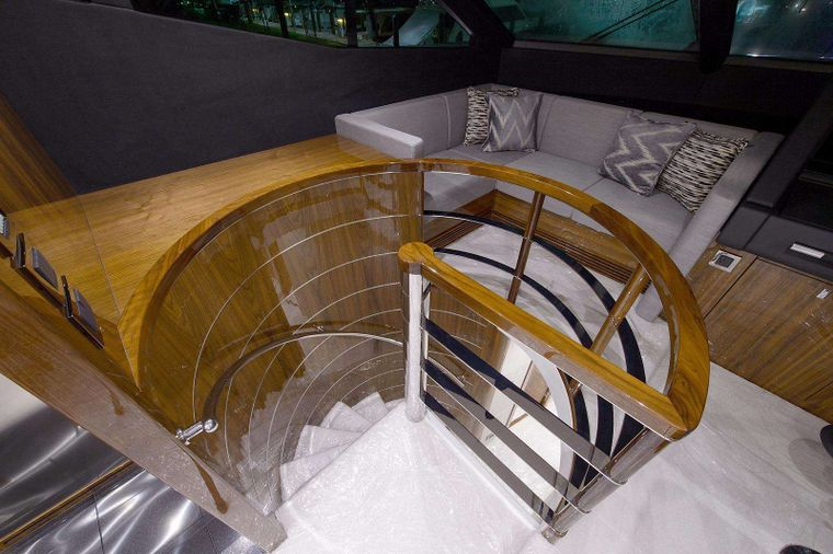 GOLDEN OURS Yacht Charter - Stairs to Guest Accommodations