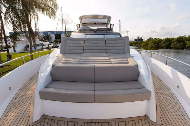 GOLDEN OURS Yacht Charter - Bow Sunpad