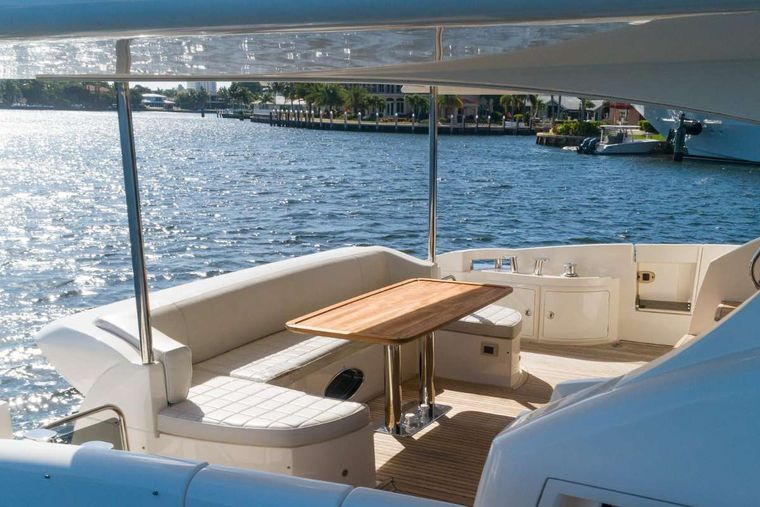 LUPO Yacht Charter - Al Fresco Dining Table