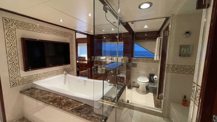 KASHMIR Yacht Charter - Jacuzzi tub and large TV