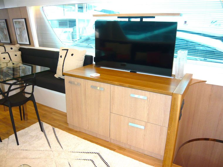 ALL WE NEED Yacht Charter - TV saloon